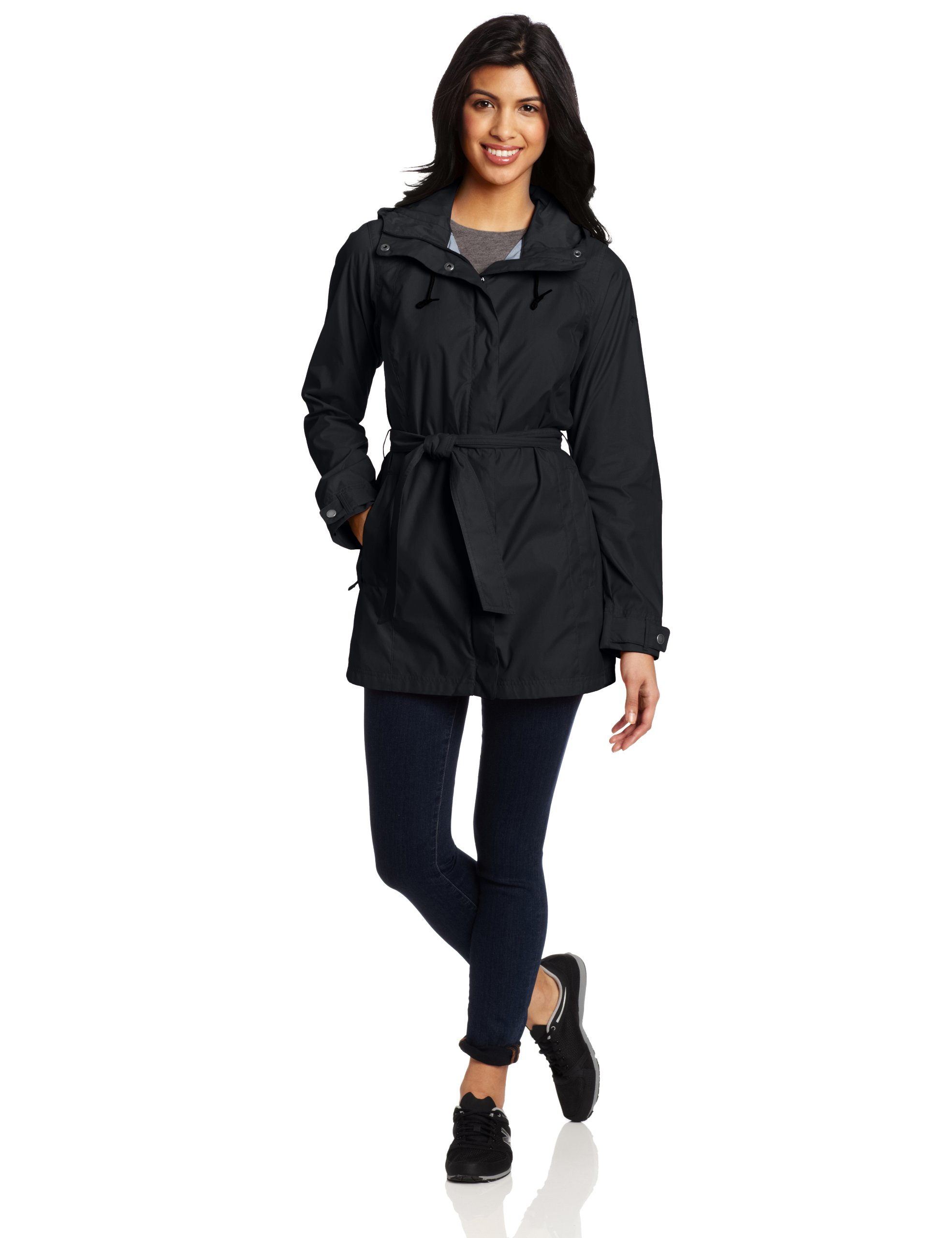 Columbia Women's Pardon My Trench Rain Jacket, Black, Medium by Columbia