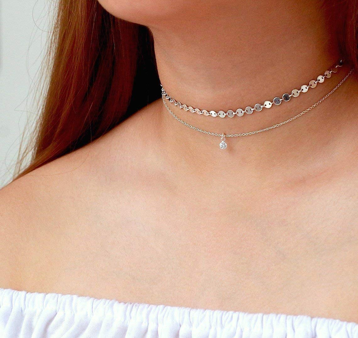 Handmade Choker Necklace Swarowski Crystals