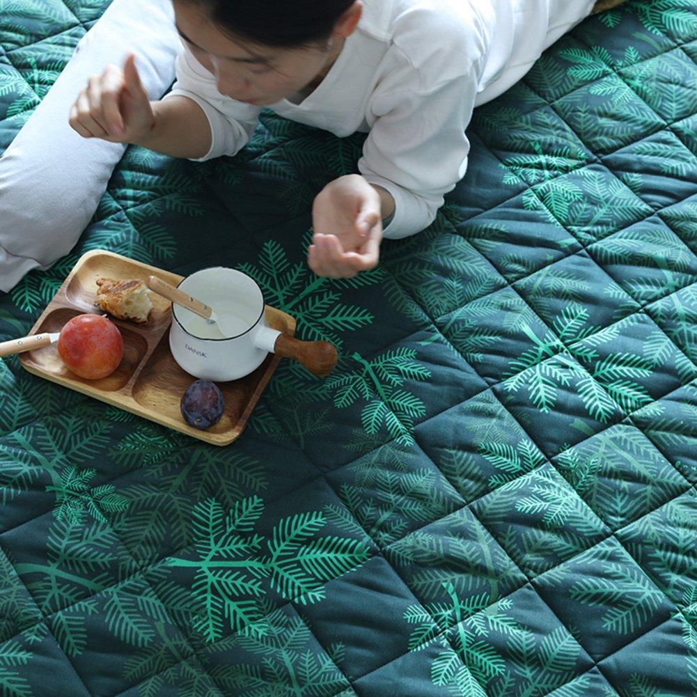 GX&XD 100% cotton Tatami mats Tatami floor mat,Folding mattress Floor lounger cover Floor mattress Carpet Creeping mats-A 180x140cm(71x55inch)