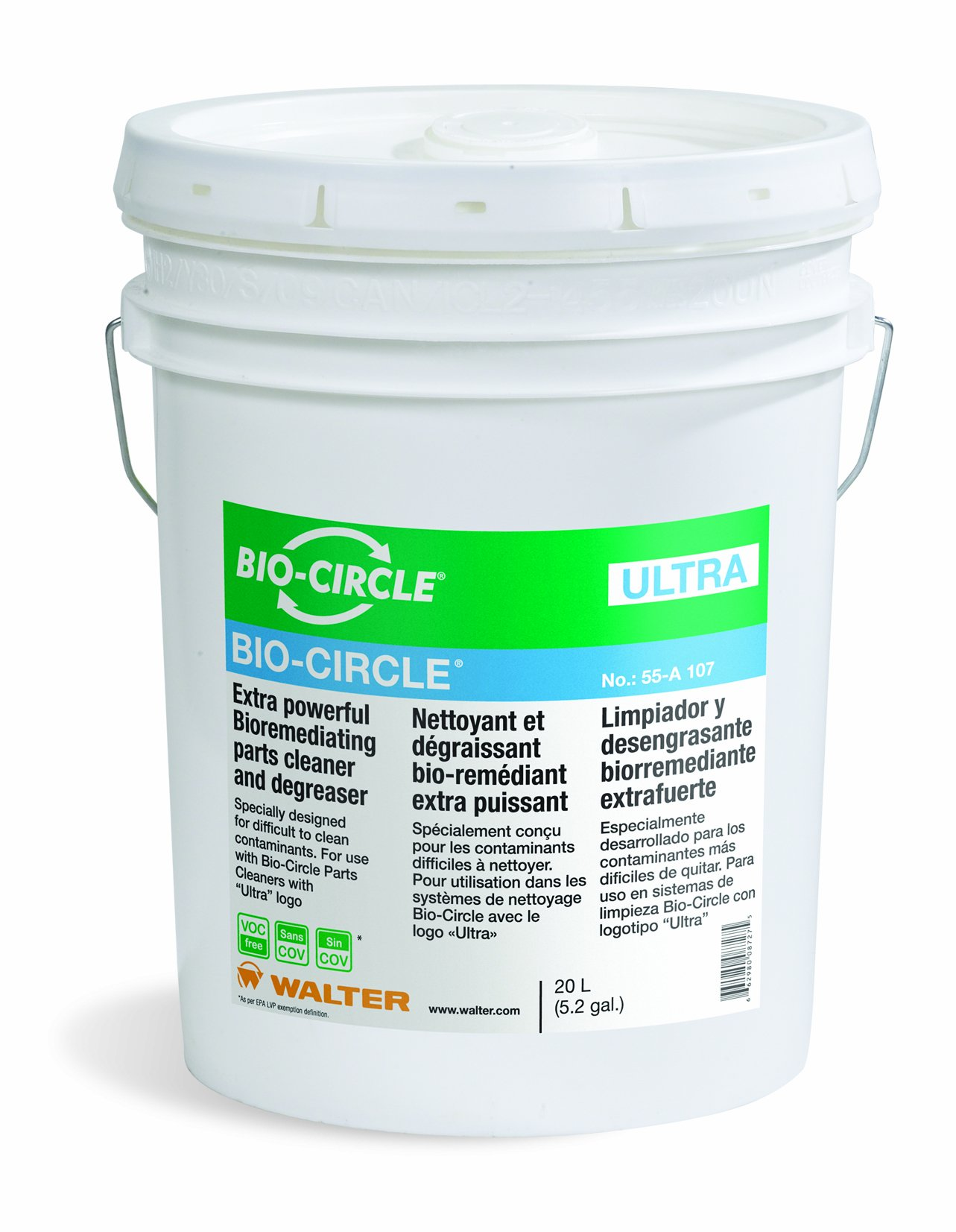 Walter 55A107 Bio-Circle Ultra Cleaner and Degreaser, 20L Pail