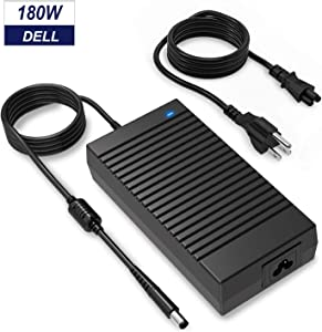 180W Dell Alienware Charger, 19.5V 9.23A 180W Laptop Power Adapter Compatible Dell Alienware 17 R3/15 R3/15 R2/X51 R2/13/14/M17X/M15X/M14X/X51, Dell Precision M4600/M4700/M4800/M6400/M6500/M6600/M6700
