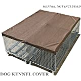 Alion Home Sun Block Dog Run & Pet Kennel Shade Cover - Hems & Grommets(Dog kennel not included) (10' x 10', Mocha Brown)