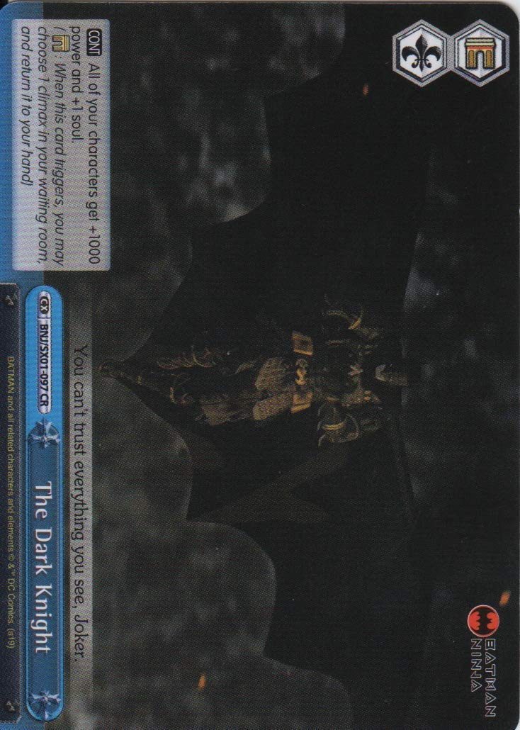 Amazon.com: Weiss Schwarz - The Dark Knight - BNJ/SX01-097 ...