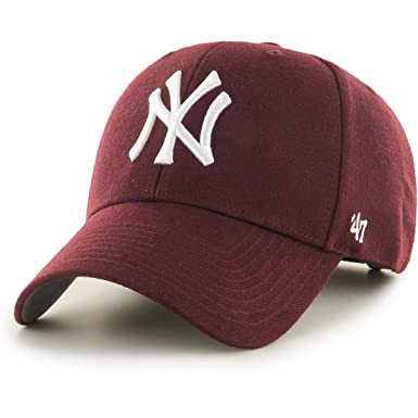 Amazon.com   47 Brand New York Yankees MVP Cap - Dark Maroon  Clothing f1e34aaad3e
