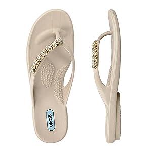 Linelle Flip Flop Sandal Color Dove by OkaB