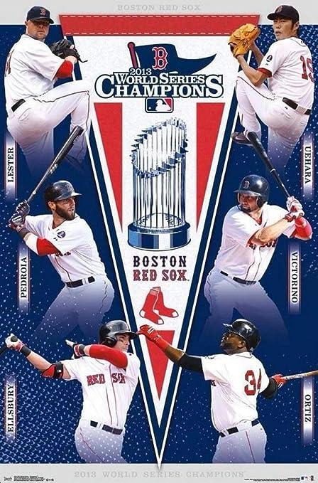 Amazon com: Boston Red Sox 2013 World Series Champions Poster 22 x