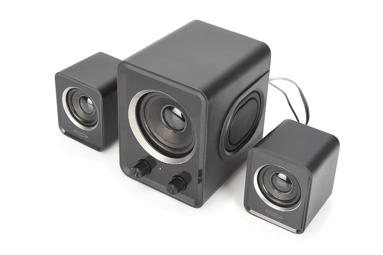 Ednet 83173 2.1 Mini Subwoofer Sound-System schwarz
