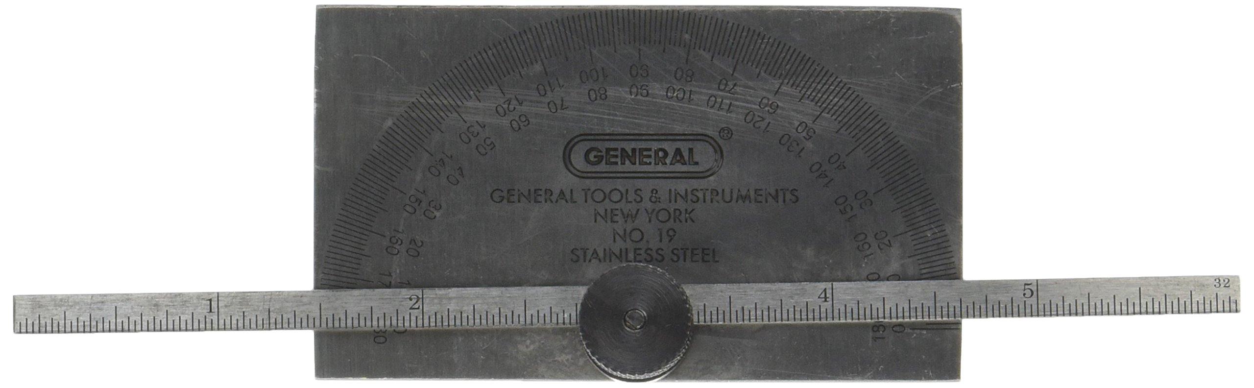 General Tools 19 Depth Gage-Protractor