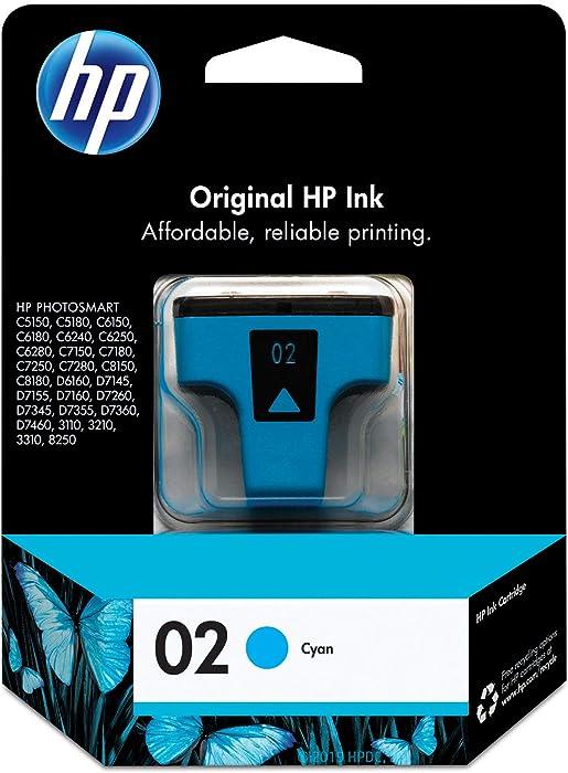 HP 02 | Ink Cartridge | Cyan | C8771WN, Cyan, Magenta, Yellow, Standard