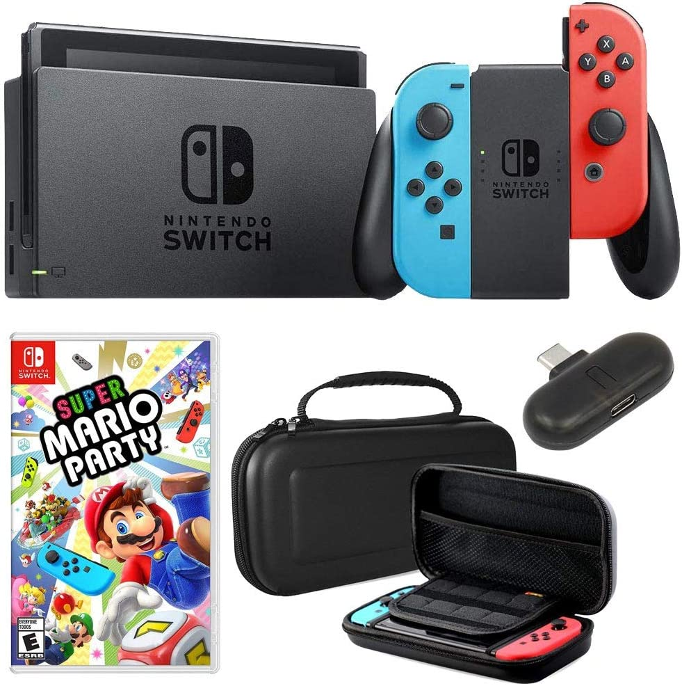 Nintendo Switch 32 GB Consola con Neon Blue & Red Joy-con + Deco ...