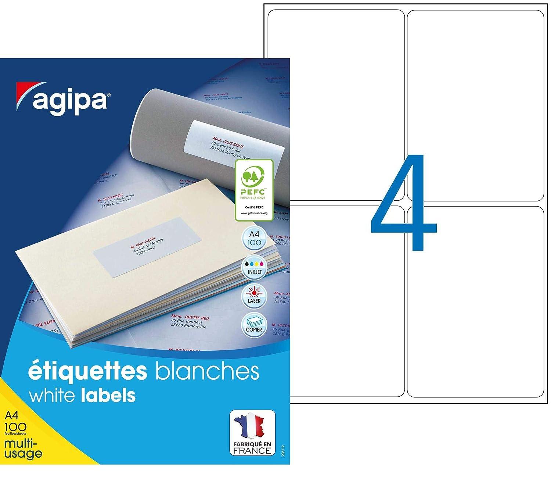 Apli 101042 caja de 400 Etiquetas multiusos A4 mm 99,1 x 139 mm A4 535ccd