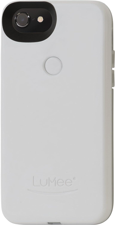 Amazon Com Lumee Two Selfie Phone Case White Glossy Led Lighting Variable Dimmer Shock Absorption Bumper Case Iphone 8 Iphone 7 Iphone 6s Iphone 6