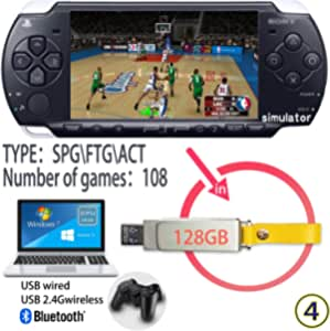 Retro Arcade Game Console 128G USB Memory Stick built-in 139 HD Classic PSP Games