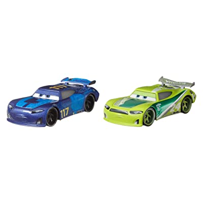 Disney Pixar Cars Spikey Fillups and Chase Racelott 2-Pack Toy Cars: Toys & Games