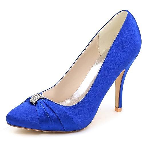 Elobaby Zapatos De Boda De Las Mujeres Vestido De Dama De Honor Vestido De SatéN Tacones