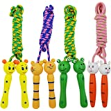 Sackorange 4 Pack Jump Rope with Wood Handles for Kids - Skipping Rope Great for Children and Students Outdoor Fun…