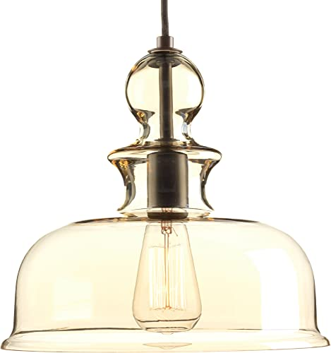 Progress Lighting P5332-20 Staunton One-Light Pendant, Antique Bronze