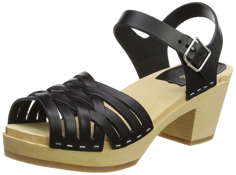 swedish hasbeens Women's Braided High Heeled Sandal B06WP6TBRV 36 M EU / 6 B(M) US|Nature