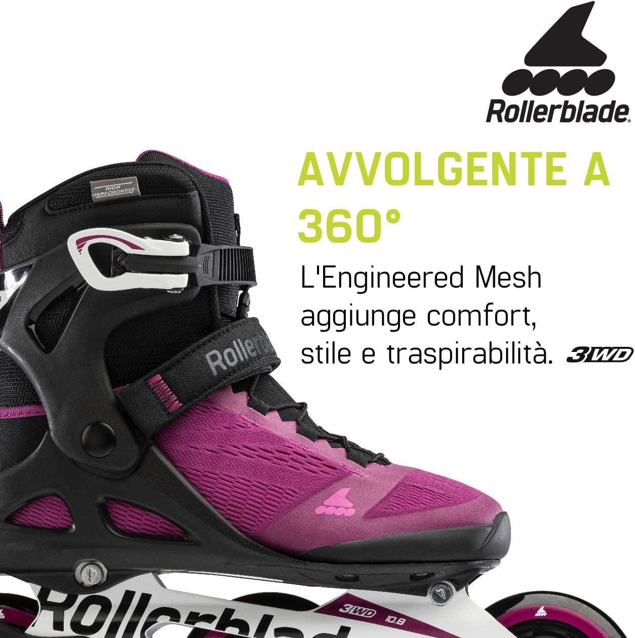 VIOLETT//SCHWARZ 275 Rollerblade Damen MACROBLADE 100 3WD W Inline-Skate