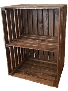 Amazoncom Darlastudio 66 Vinyl Record Holder Wood Crate Kitchen