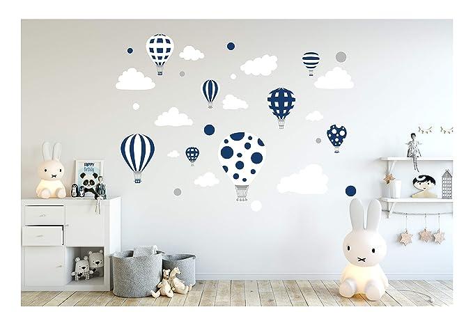 madras24 Etiqueta de la Pared Pegatinas de Pared Pegatinas para niños Globo Globos Nubes Nube Habitación para niños salón jardín de la Infancia Escuela ...