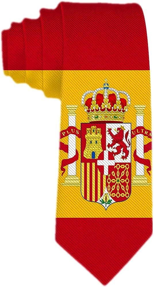 Anna-Shop Corbata para hombre Corbata clásica Bandera de España Jacquard Corbata de seda tejida Traje formal Fiesta Corbata: Amazon.es: Ropa y accesorios