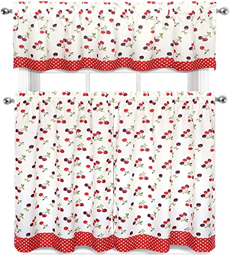 Kitchen Curtains With Cherries On Them