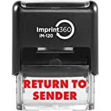 "Imprint 360 AS-IMP1016 - RETURN TO SENDER, Heavy Duty Commerical Quality Self-Inking Rubber Stamp, Red Ink, 9/16"" x 1-1/2"" Impression Size, Laser Engraved for Clean, Precise Imprints"