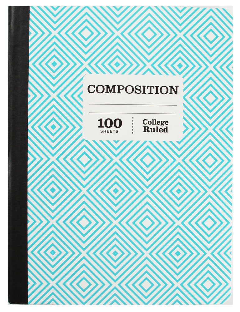 1 Subject College Ruled Composition 100 Page Notebook Sustainable Forestry Pack of 5 by Pen (Image #4)
