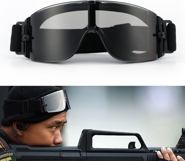 Gafas para ciclismo; gafas gafas tácticas de motocicleta; gafas ajustables de Airsoft; gafas militares con protección UV-400 a prueba de viento