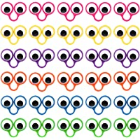 Livder 30 Pieces Eye Finger Puppets, Wiggly Eyeballs Ring Children Kids Toys, 6 Colors