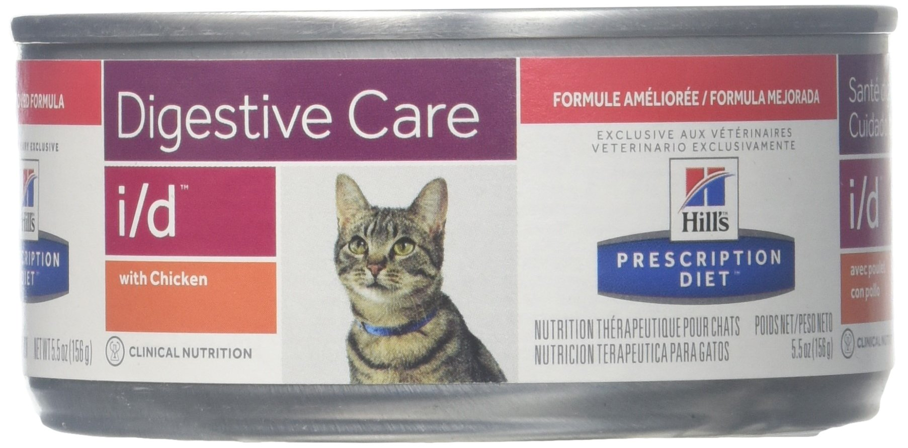 Hill's Diet i/d Feline Gastrointestinal Health Canned Cat Food (24-5.5oz cans) by Hill's Pet Nutrition