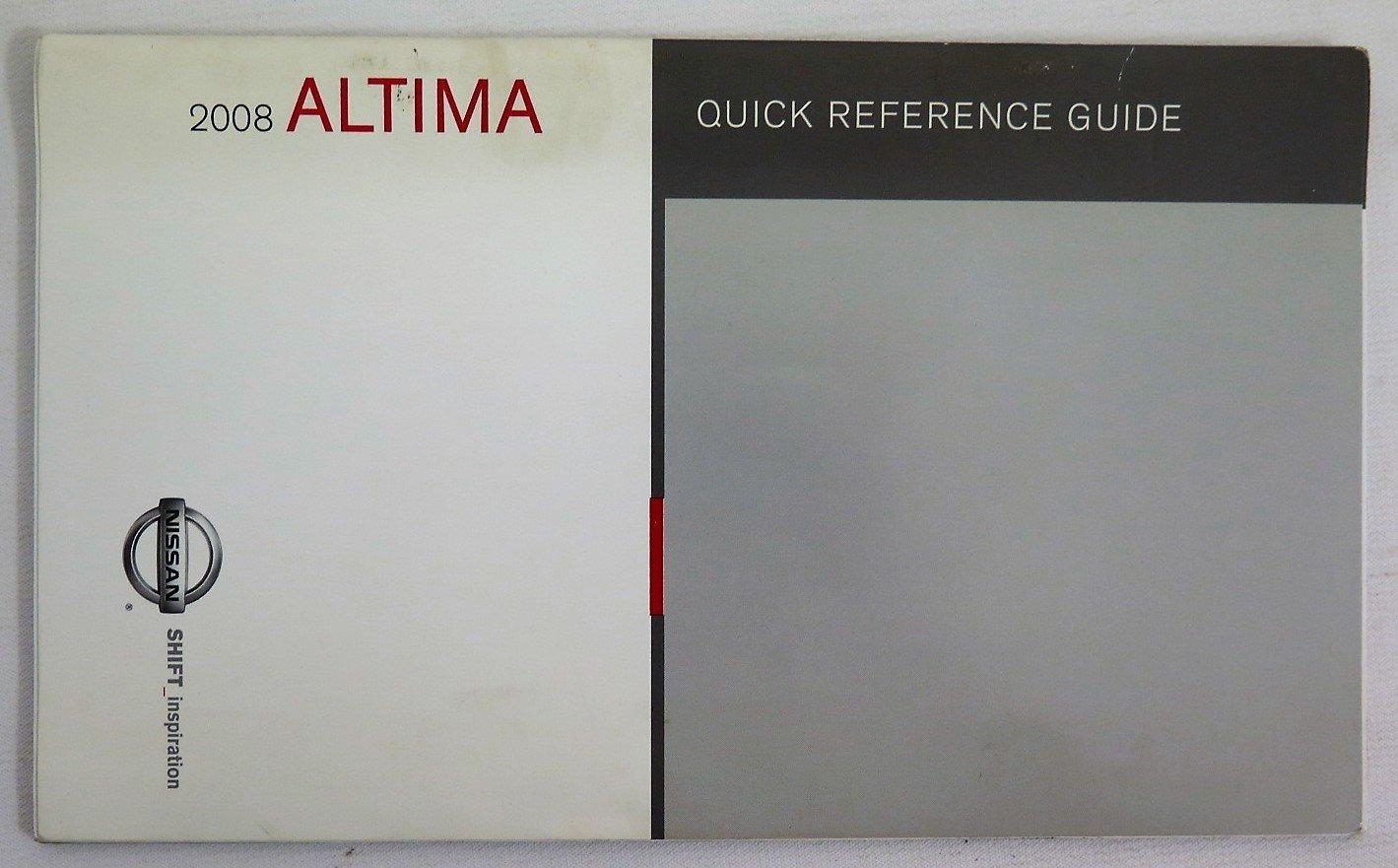 amazon com 2008 nissan altima owners manual book automotive rh amazon com 2011 Nissan Altima 2008 Nissan Altima Interior