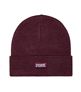 5a5436df24985 Image Unavailable. Image not available for. Color  Victoria s Secret Pink  Beanie Hat ...