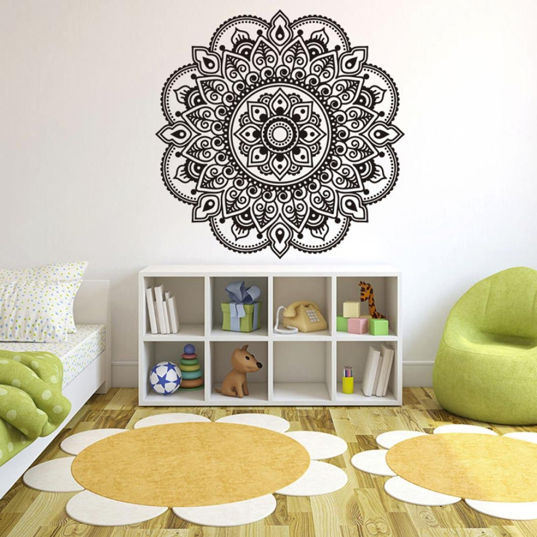 Highpot Bedroom Living Room Wall Stickers Decal Mandala Flower Art Mural Home Decal