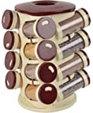AryaMobi 16 in 1 Food Grade Plastic Masala Storage Rack(Assorted Colour)