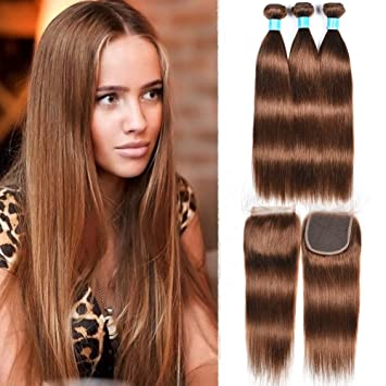 Women s Day Gifts 100g Bundles Medium Auburn Straight Hair Weaves 8A Grade  Peruvian Hair   ec947e8e9a