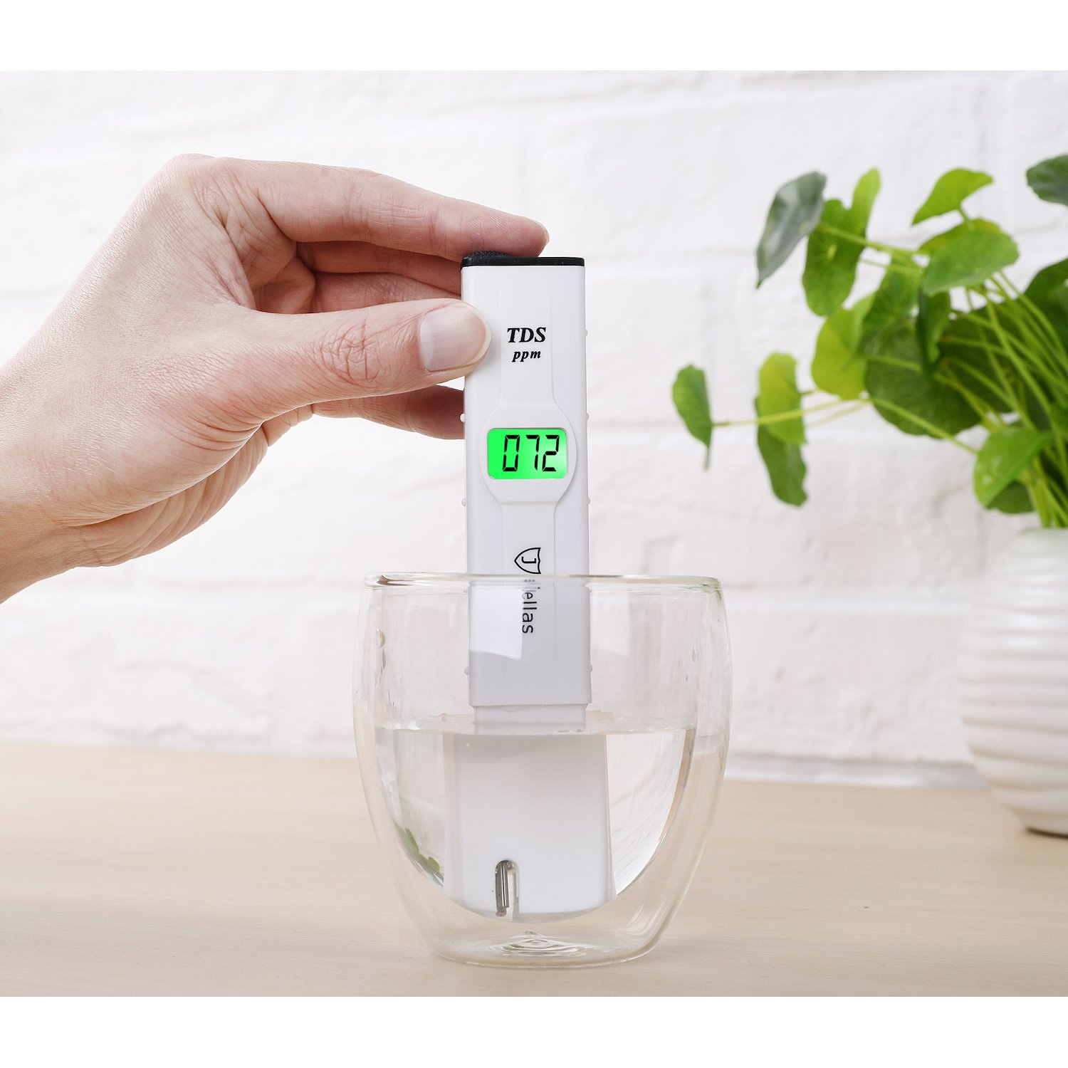 Jellas TDS Meter, TDS-91182 Pocket Size TDS/PPM Water Quality Tester with 4-Digit Backlit LCD Display for Household Drinking Water, Swimming Pools, Aquariums, Hydroponics and More. by Jellas (Image #7)
