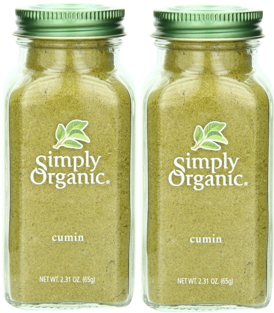 Simply Organic Cumin Seed Ground Certified Organic, 2.31-Ounce Container, 2 Pack