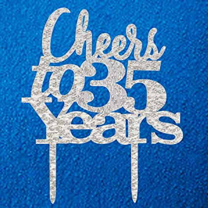 Amazon Com Cheers To 35 Years Cake Topper 35th Birthday 35th