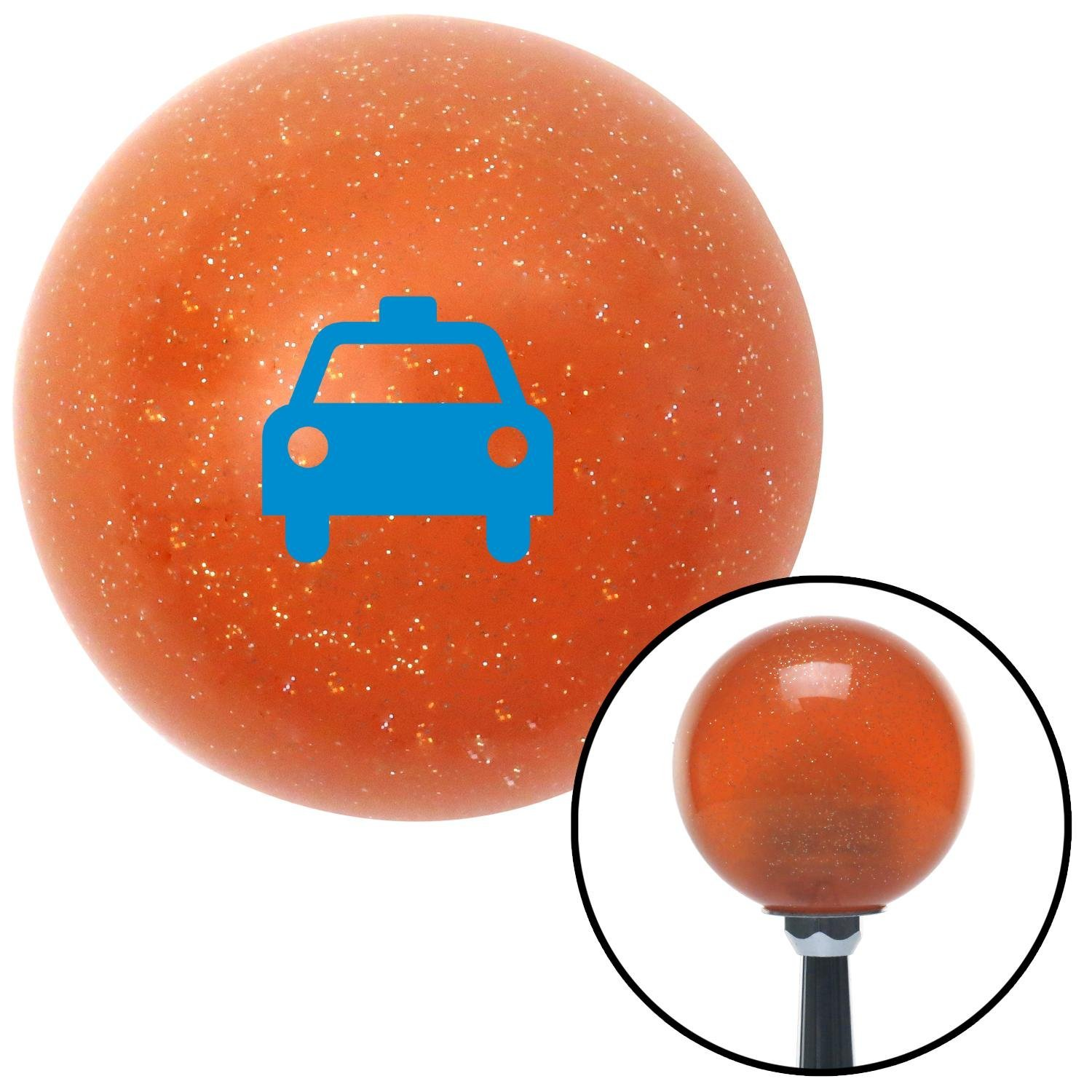 Blue Taxi American Shifter 43258 Orange Metal Flake Shift Knob with 16mm x 1.5 Insert