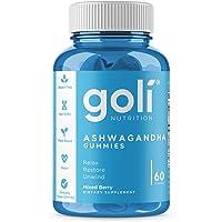 ASHWA Vitamin Gummy by Goli Nutrition - Ashwagandha and Vitamin D Gummies - Relax. Restore. Unwind. (Mixed Berry, KSM-66…