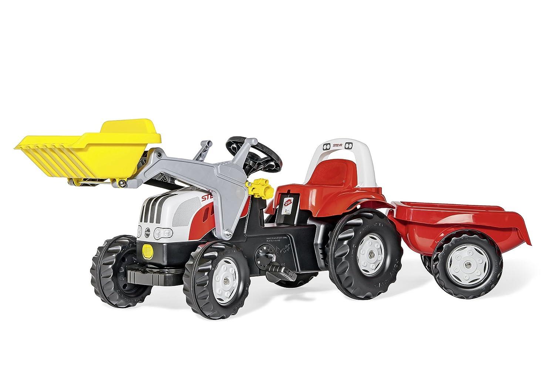 Kindertraktor mit Anhänger - rollyKid Steyr, John Deere & Co.