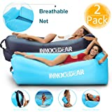 INNOCEDEAR 2 Pack Inflatable Lounger Air Sofa Hammock,Inflatable Couch Air Chair,Camping Accessories,Waterproof Anti-Air…