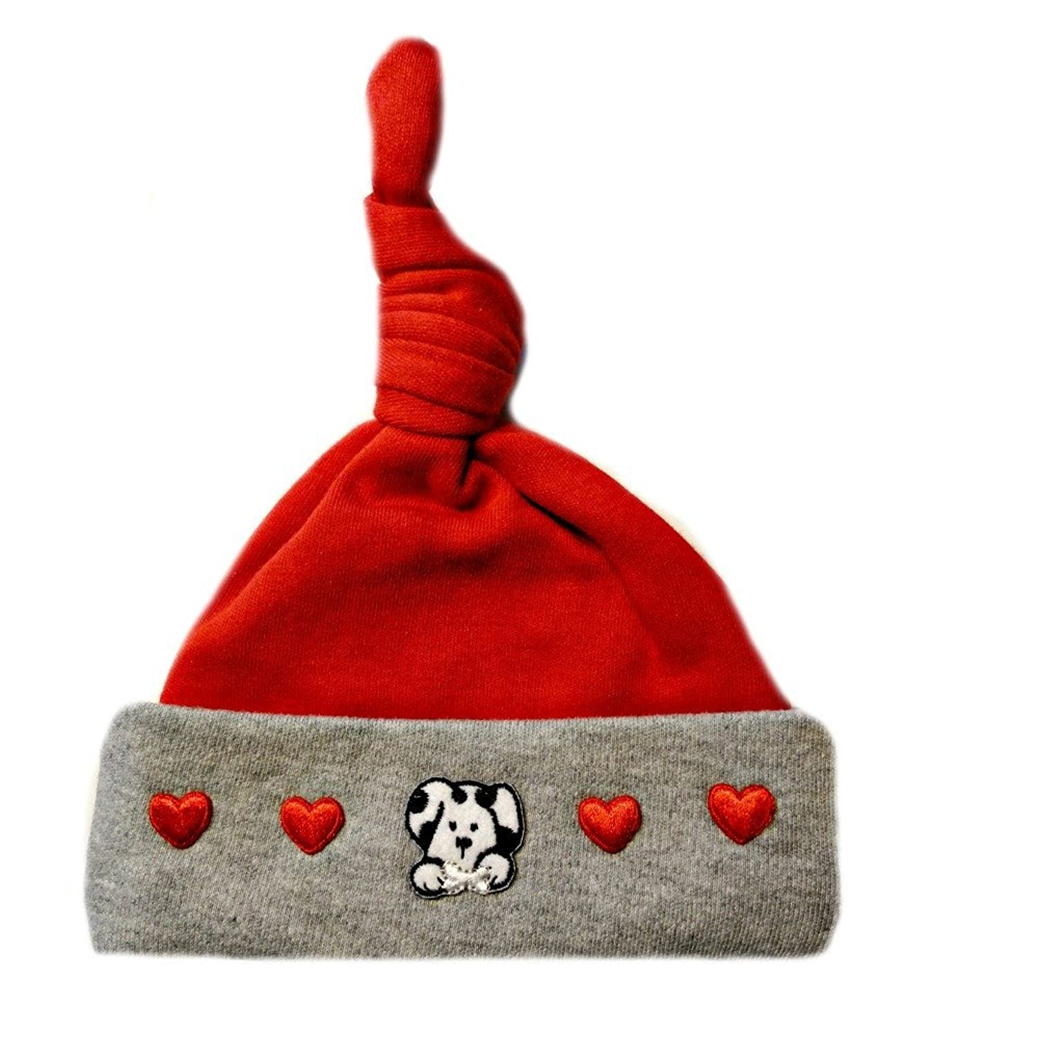 Amazon.com: Jacqui's Baby Boys' Dalmatian and Hearts Knotted Hat ...