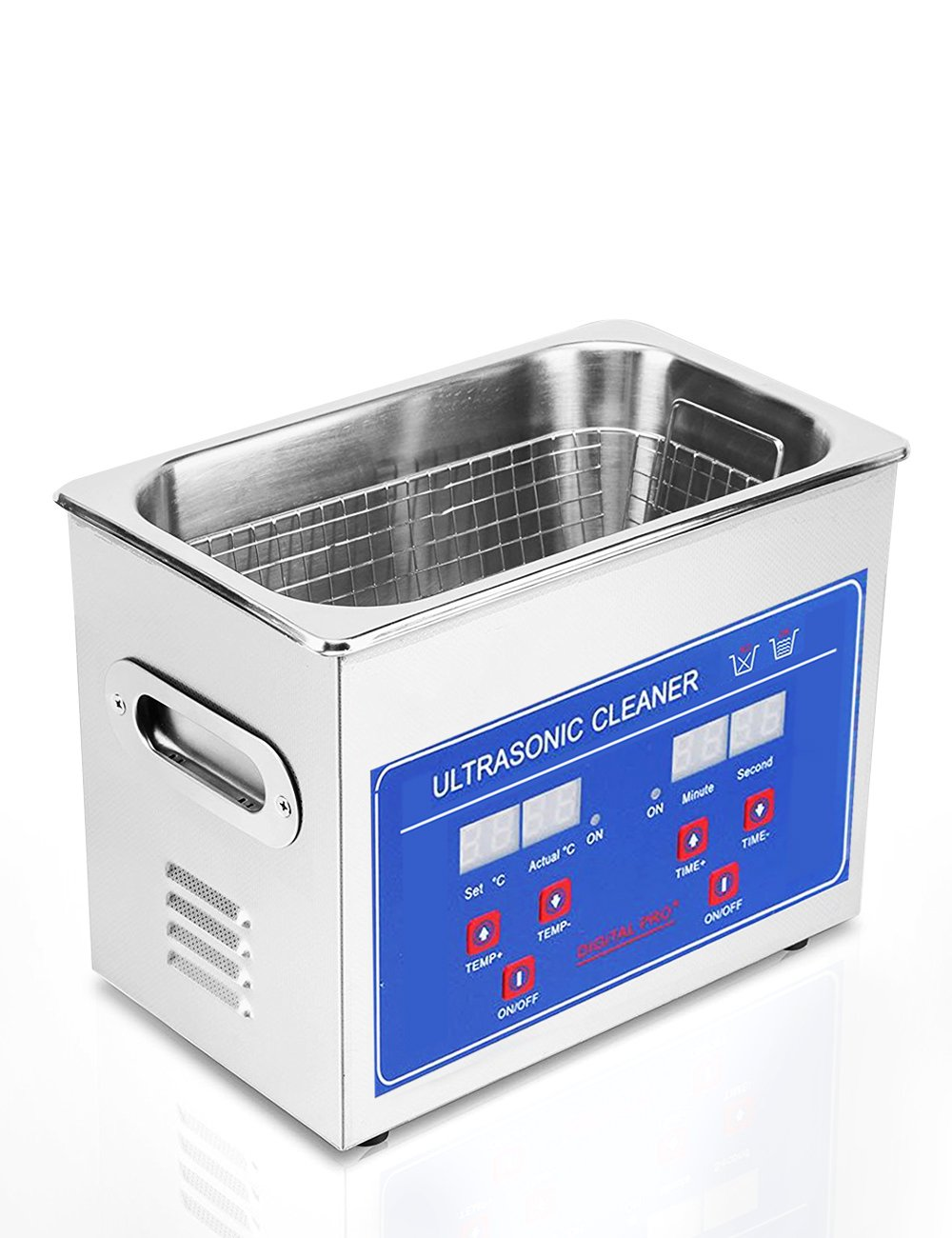 Jakan Ultrasonic Cleaners Digital Timer for Cleaning Jewelry and Eyeglass 100-120V/40KHz 60W 0.6L stainless steel
