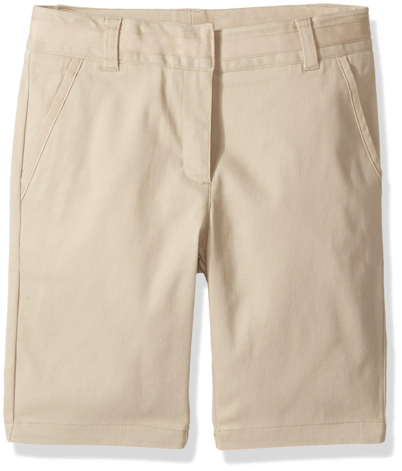 8.5 Plus Navy Nautica Girls Size School Uniform Skinny Twill Bermuda Short