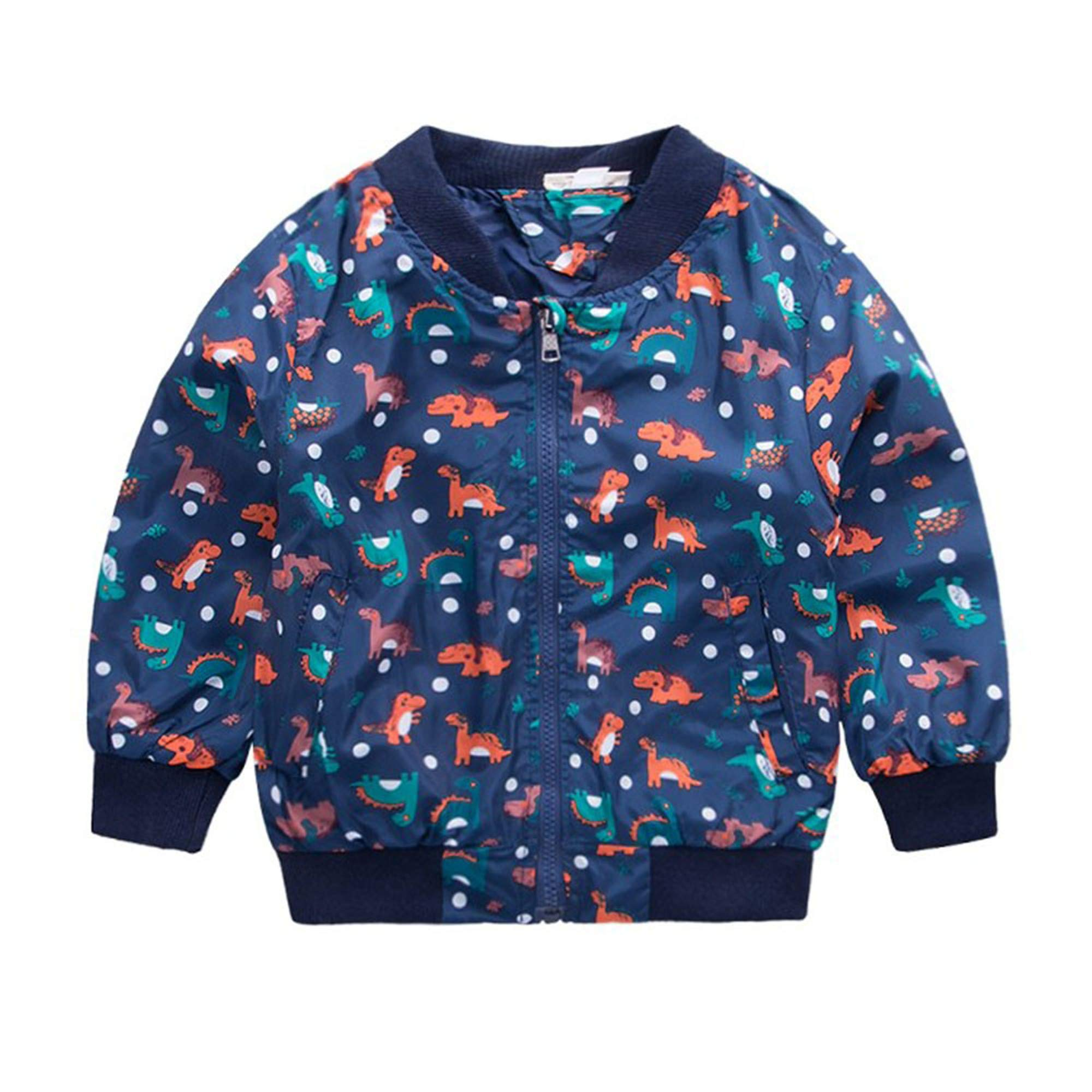 SMALLE ◕‿◕ Baby Boys Dinosaur Print Hooded Jacket Coat Winter Warm Thick Cute Tops Cool Outwear