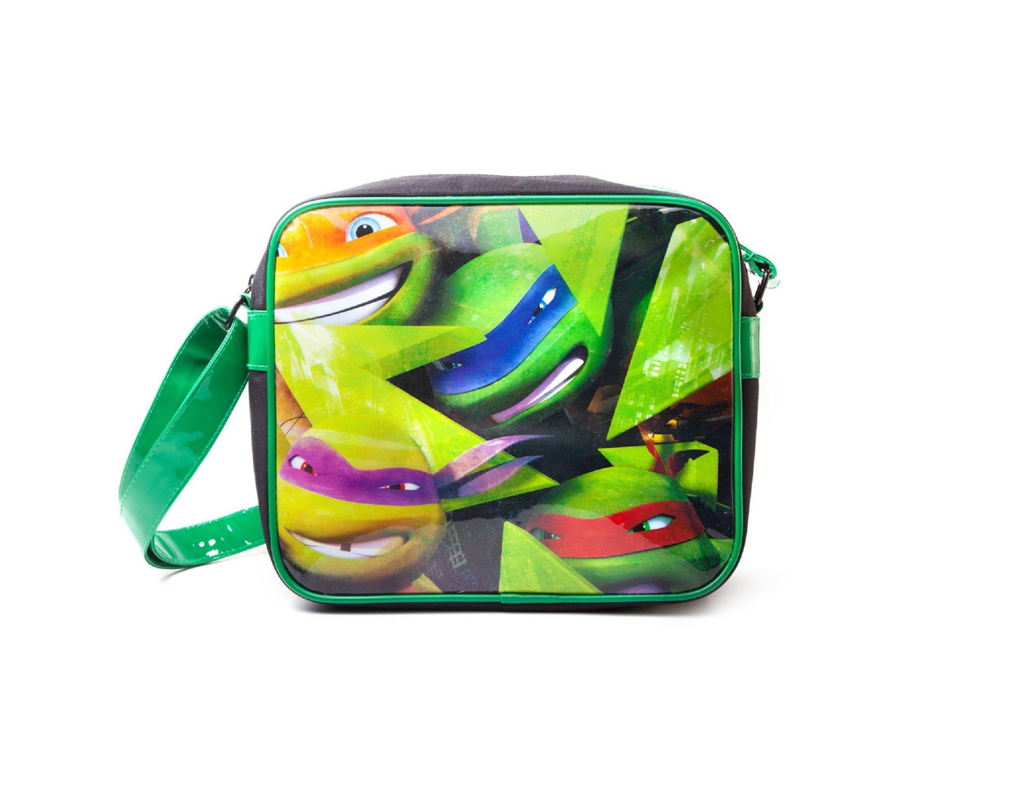 Teenage Mutant Ninja Turtles Faces Official Green Messenger Bag