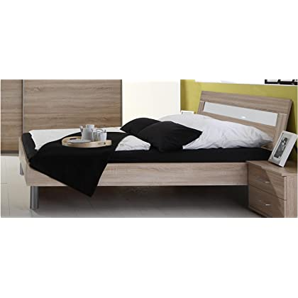 Bett Doppelbett Schlafzimmer Eiche Sägerau Dekor 180 X 200 Cm Inkl